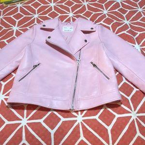 A pink pleather jacket